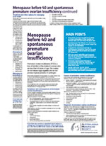 Menopause before 40 and spontaneous premature ovarian insufficiency