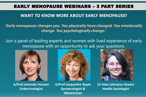 EARLY MENOPAUSE WEBINARS