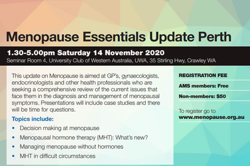 Menopause Essentials Update Perth