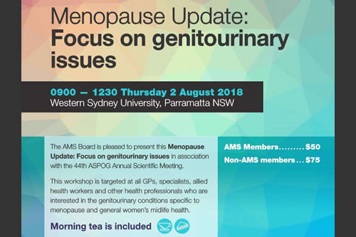 Menopause Essentials Update Aug 2018